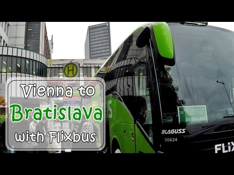 [เที่ยวยุโรป] Vienna - Bratislava route with Flixbus ; Day trip : Slovakia Travel Vlog Ep.105