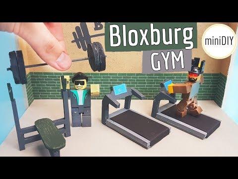 DIY Miniature Bloxburg Gym Roblox Toys Set