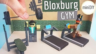 DIY Miniature Bloxburg Gym Roblox Toys Set