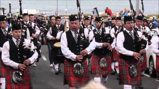 Pipe Band parade Portrush 2013
