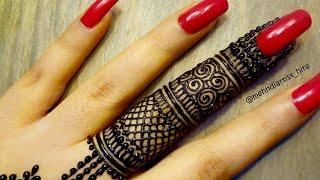 DIY Beautiful intricate finger mandala gol tikki henna mehndi designs for hands eid,weddings,party