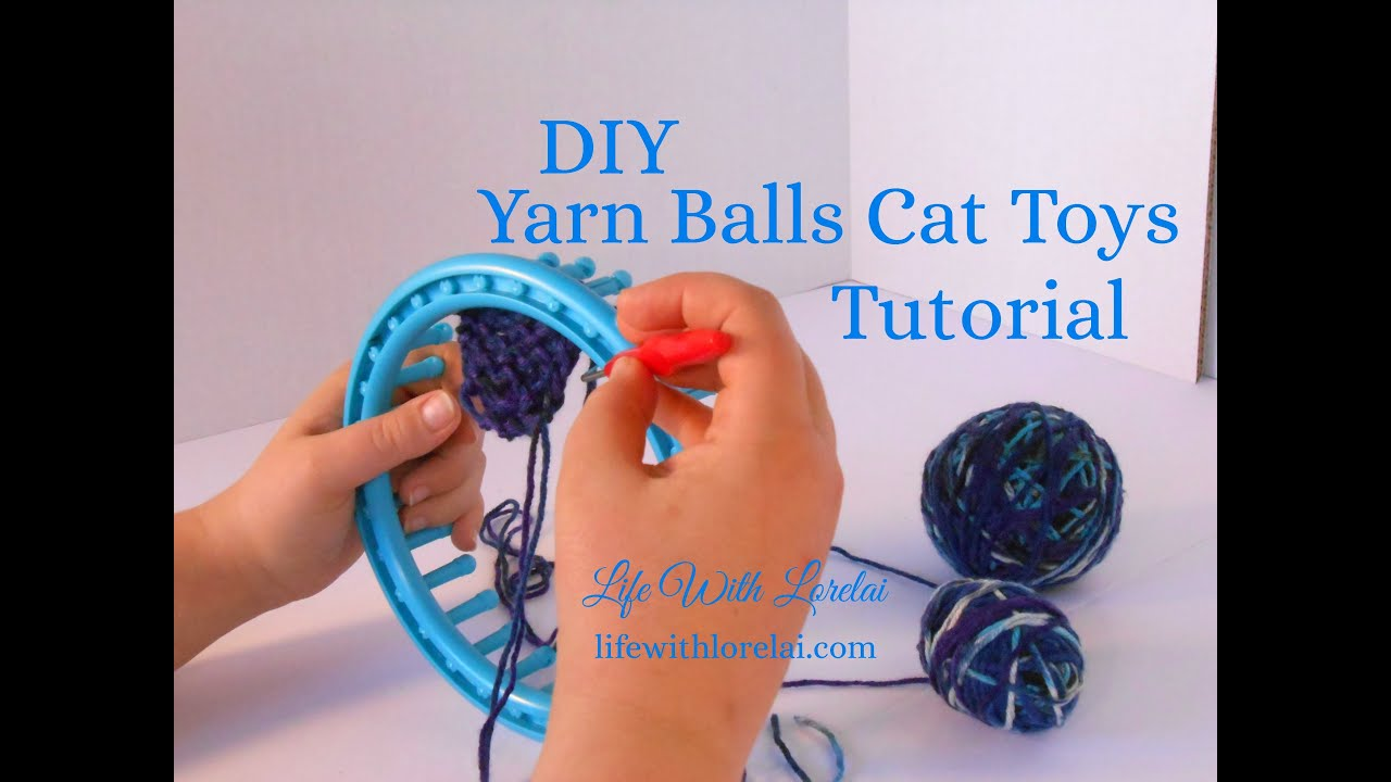 Homemade Yarn Cat Toys