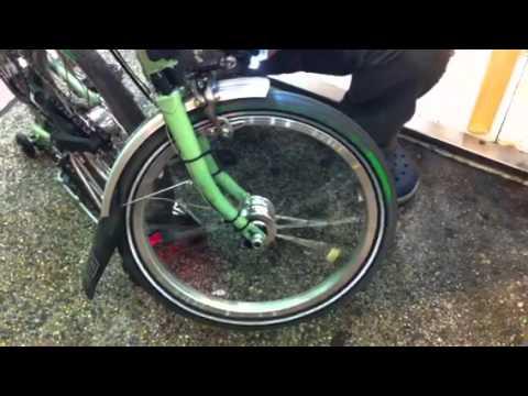 首試 台灣 bikefun brompton 專用 hub dynamo (發電花鼓)之 一 : 通磁後