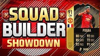 FIFA 18 SQUAD BUILDER SHOWDOWN!!! 91 INFORM POGBA!!! Title Party Spoiling Pogba