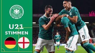 """""""Debütant, Rühreier und Matchwinner"""" - U 21- Stimmen zum Sieg in England!"""