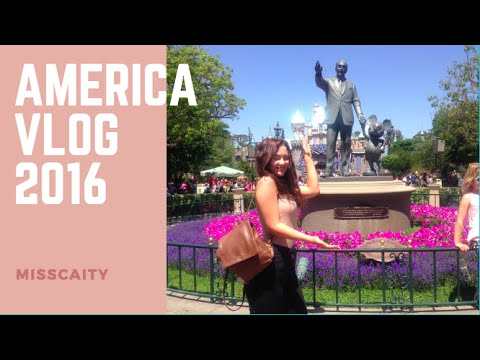 AMERICA! Disneyland and Universal + going around L.A. - Vlog || MissCaity