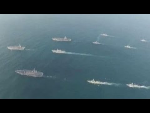 US aircraft carrier strike groups conduct drills in Pacific