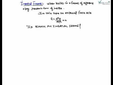 Inertial and Non-Inertial Frames, Types of Frame of Reference, Frame ...