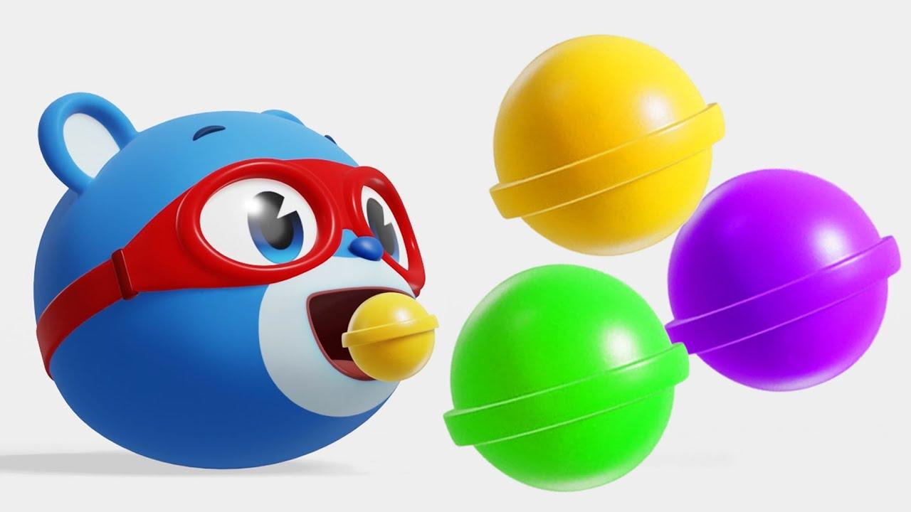 [놀이] 슈퍼잭 알록달록 사탕먹기 색깔놀이 l Learn Colors l 컬러놀이 l 색깔 장난감 놀이 | Color Candy