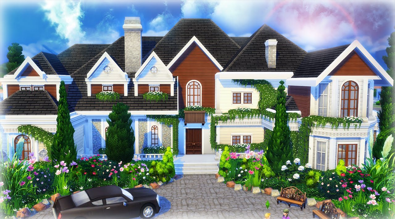 The sims 4 house building beryl 39 s base game home part 2 for House making games
