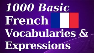 1000 Basic French Vocab & Expressions