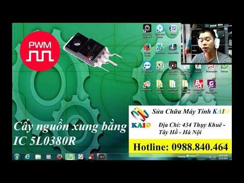 Huong dan cay nguon monitor lcd bang ic 5l0380r