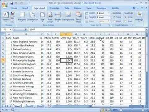 Scale A Spreadsheet To Fit In One Printed Page In Excel