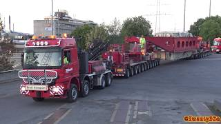Gambar cover 4K| Two Mercedes Benz Trucks Pulling A 240 Tons Transformer