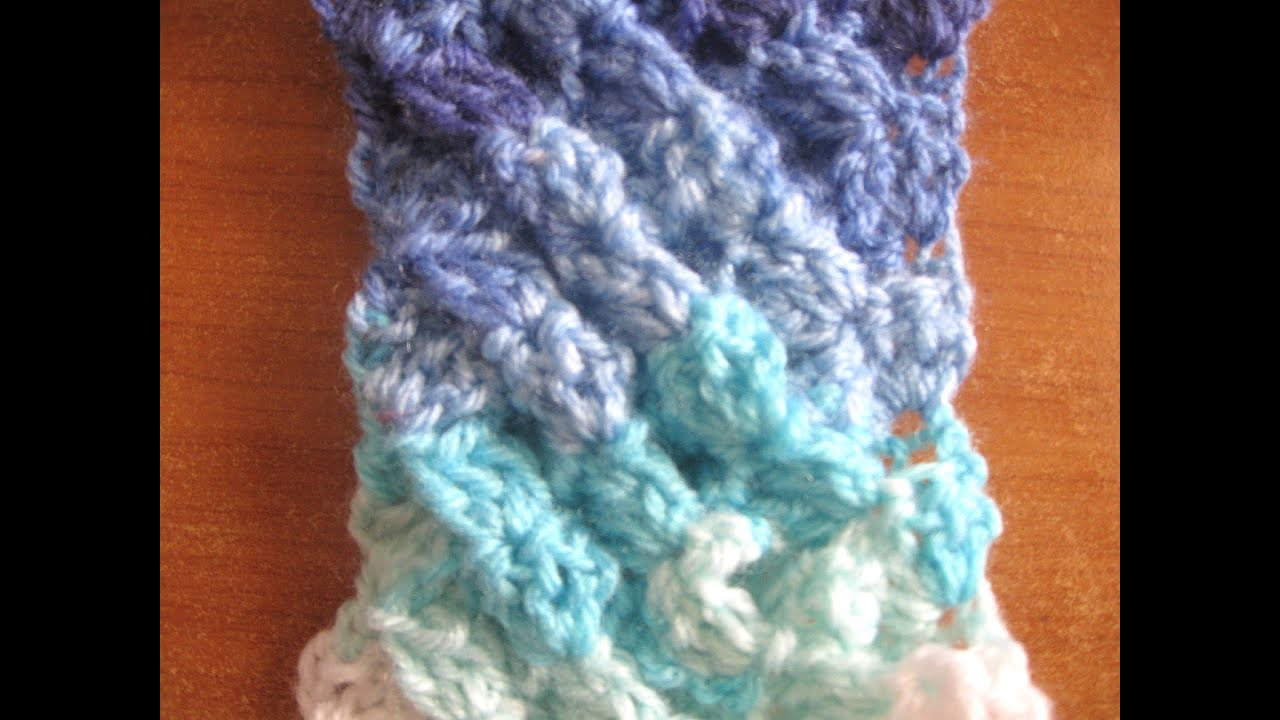 Crochet Stitches Shell Instructions : Woven Shell Crochet Stitch - Crochet Tutorial - YouTube