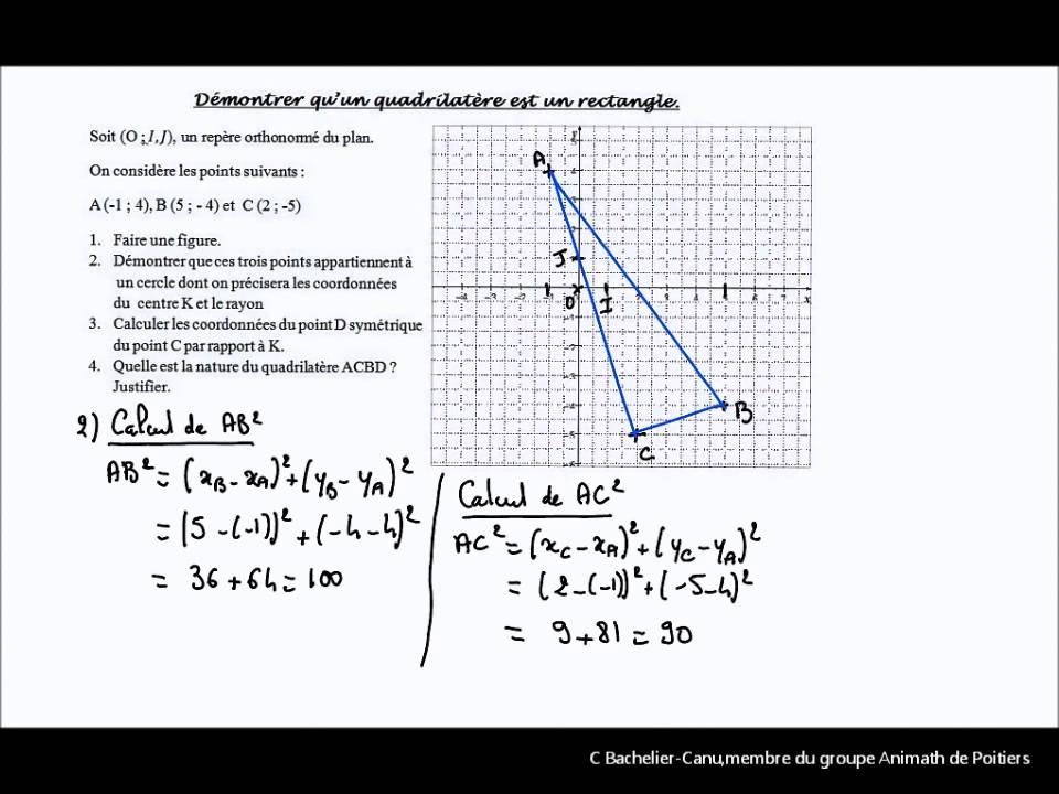 D montrer qu 39 un parall logramme est un rectangle avec les - Qu est ce qu un jardin ...