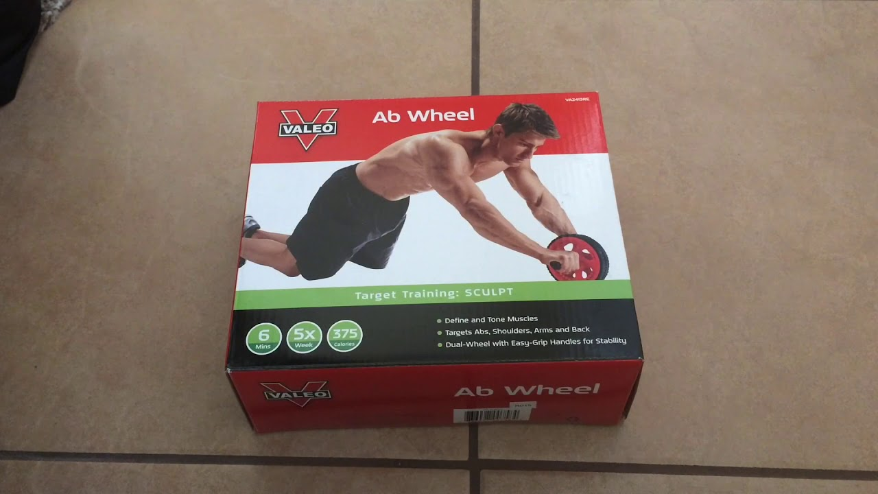 Valeo Ab Roller Wheel Exercise And Fitness Wheel With Easy Grip Handles