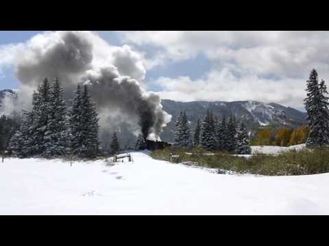 Thumbnail: Cumbres and Toltec double header plowing snow