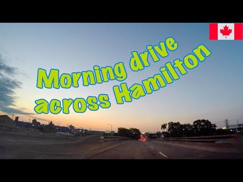 Morning drive in Hamilton