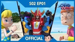 [DinoCore] Official   The appearance of a new evil, Vito   Tyranno Robot Animation   Season 2 EP01