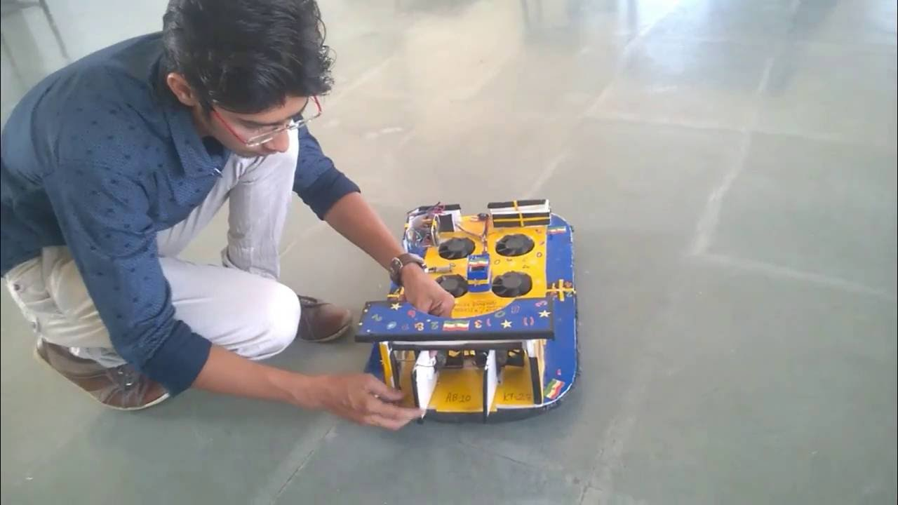 How to make MINI HOVERCRAFT Engineering Major Project - YouTube