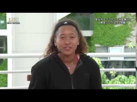 What did Osaka Naomi speak by a Japanese message?