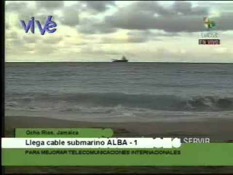 Cable de fibra óptica Alba 1 llegó a Jamaica parte 1