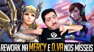 Testando o Rework da Mercy e Habilidade Nova da D.Va | Bom de Bico #27