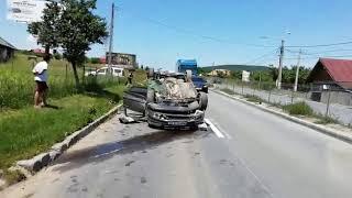 ACCIDENT VALCELE MASINA RASTURNATA