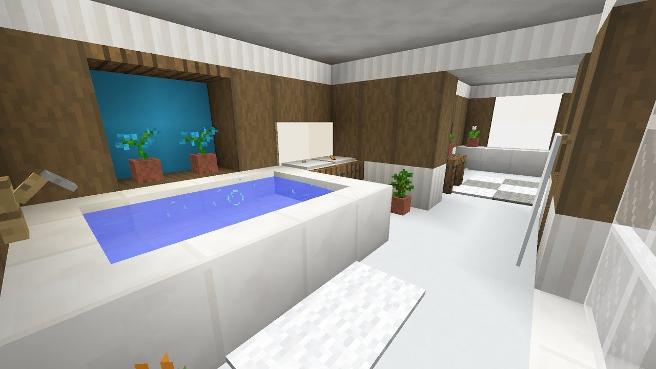 Minecraft Bathroom Interior Design - YouTube