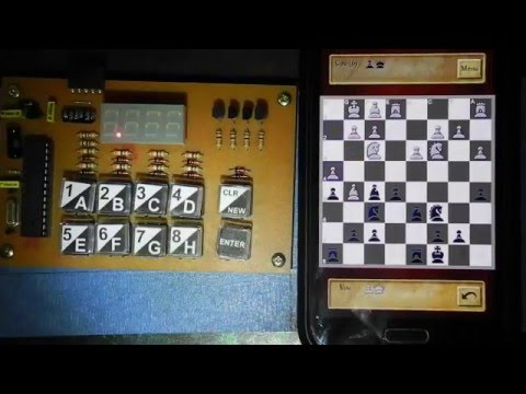 AVR Chess Computer (Lily) playing against a mobile phone