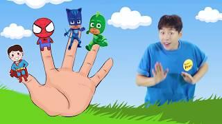 슈퍼 히어로 손가락 동요 Finger Family Superheros | Kids Songs and Nursery Rhymes - 마슈토이 Mashu ToysReview