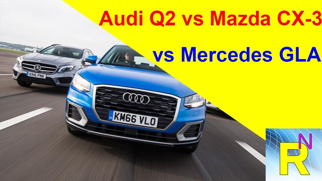 read newspaper - audi q2 vs mazda cx-3 vs mercedes gla - youtube