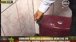 Cuidado con las cámaras ocultas en hostales, baños y vestidores públicos
