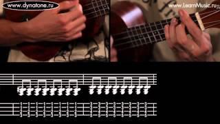 Видео урок: как играть песню Seven Nation Army - The White Stripes на укулеле (гавайская гитара)