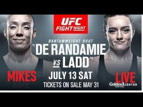 🔴UFC FIGHT NIGHT 155 LADD vs.DE RANDAMIE LIVE FIGHT REACTION/COMMENTARY
