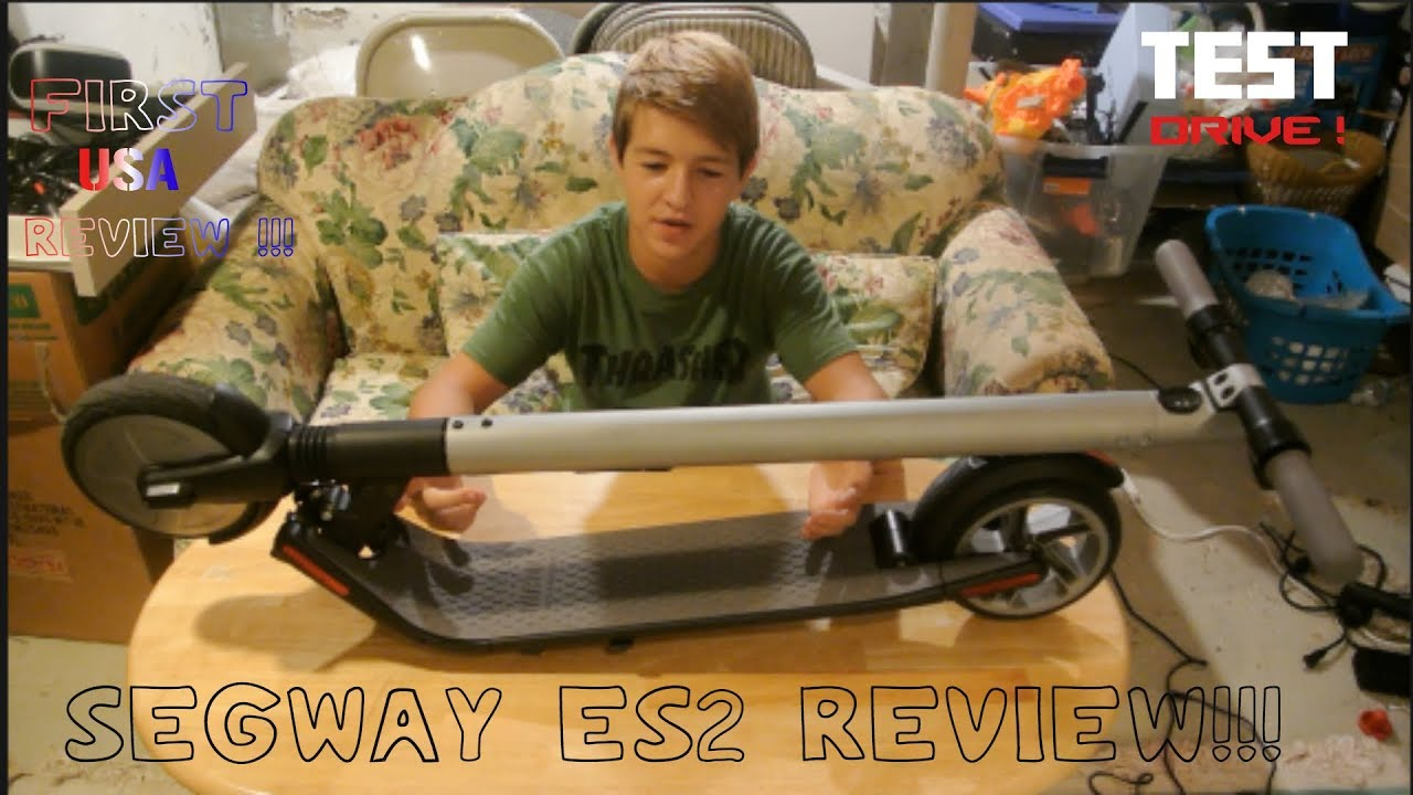 ninebot es2 by segway review and test drive youtube. Black Bedroom Furniture Sets. Home Design Ideas