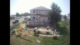 Dowdberry Deck: P5: Pergola Build For The New Deck (hd)