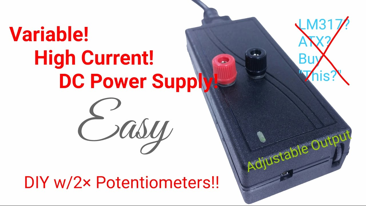 5 easy steps diy adjustable dc bench power supply  [ 1280 x 720 Pixel ]
