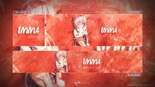 FREE GFX - FREE Anime Revamp-Rebrand 2018 [PSD Template] + How To Edit