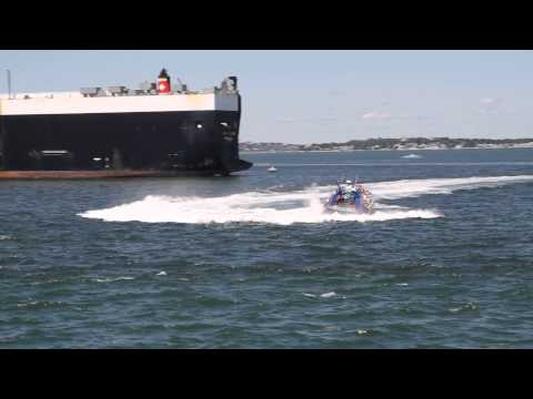 Codzilla in action in Boston outer harbor HD