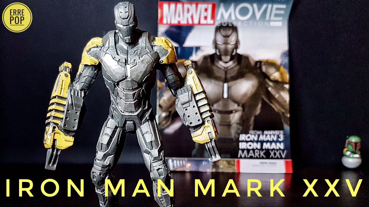 Iron Man Mark Xxv Striker Marvel Movie Collection Eaglemoss Review Hot Toys 25 Unboxing