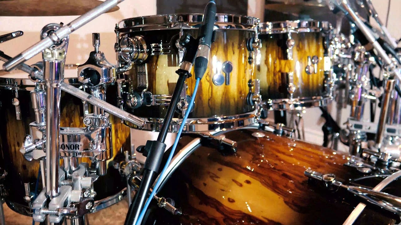 Sonor SQ2 Birch - Custom Burst Over African Marble - Time Lapse Setup with Quick Sound Demo