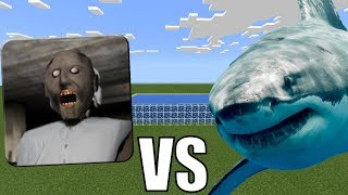 WHITE SHARK vs GRANNY HORROR in Minecraft PE