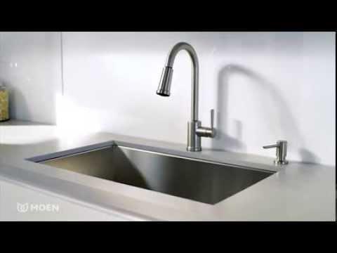 indi pulldown kitchen faucet with reflex moen features spotlight