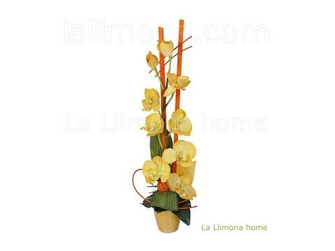 Arreglos Florales Artificiales Arreglo Floral De Orquideas Artificiales Amarillas La Llimona