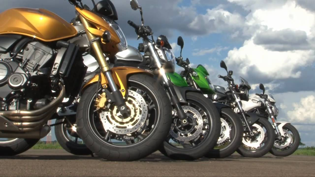 comparativo 5 naked - revista motociclismo - youtube