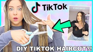 Testing Viral Tiktok Life Hacks! CUTTING MY OWN HAIR?! Success Or Disaster ?!
