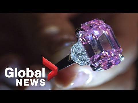 Rare Pink Legacy diamond sells for 44.5 million Swiss francs at auction