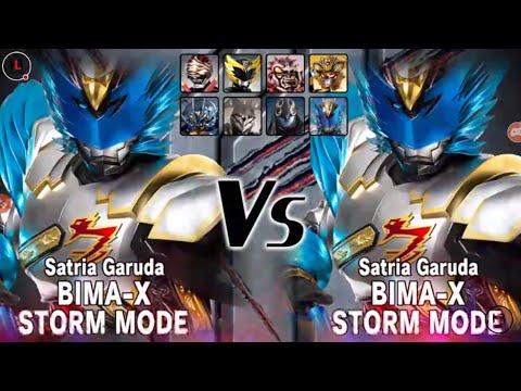 BIMA-X Storm Mode Single Mode - Satria Heroes (LIVE) Storm Mode vs Storm Mode